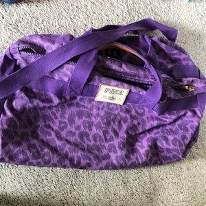 Pink overnight bag